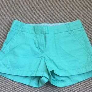 Teal jcrew chino shorts
